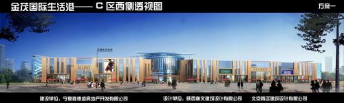 金茂国际生活港C区西侧透视图